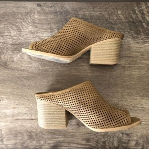 Qupid Perforated Slip On Booties